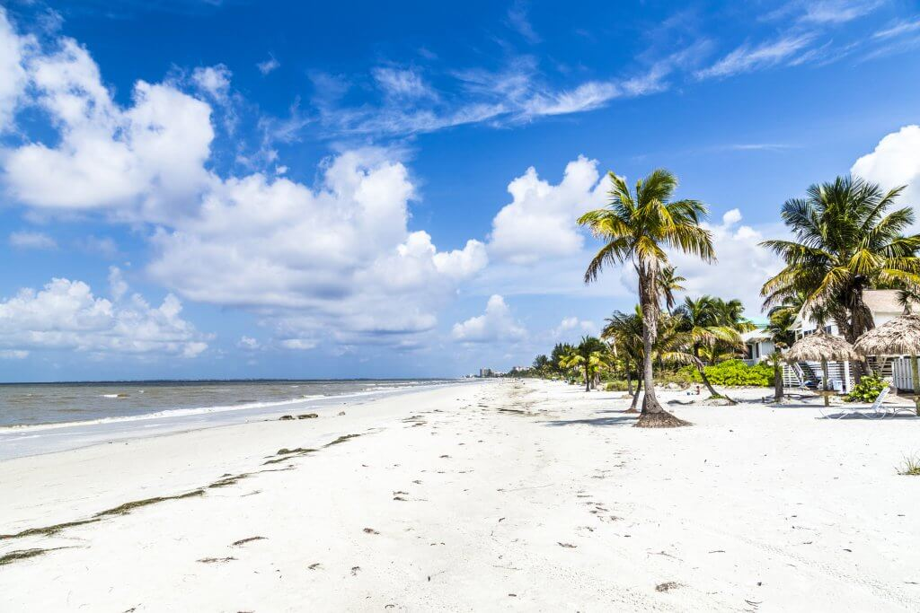 beautiful beach at Fort Myers in america